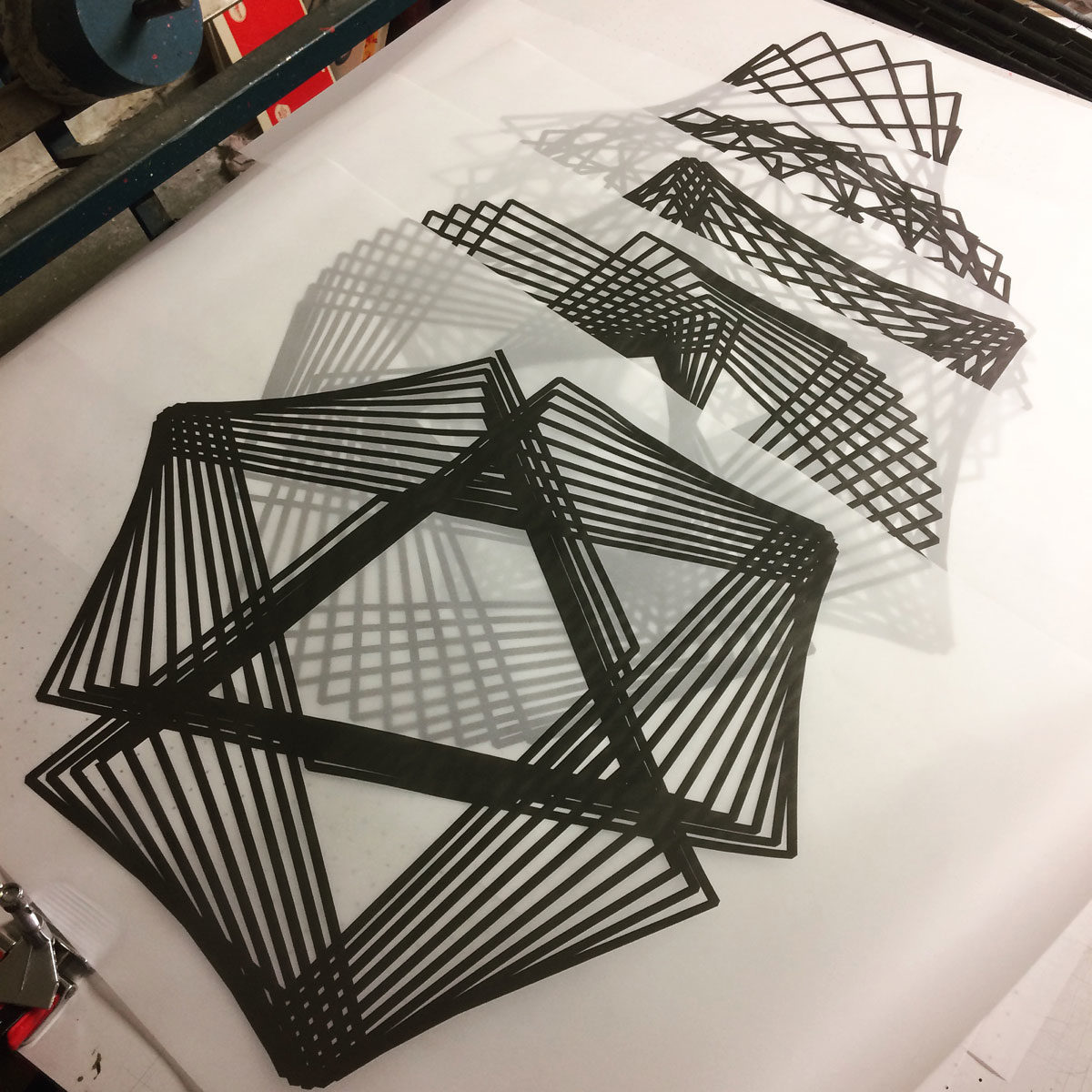 In der Siebdruck-Werkstatt