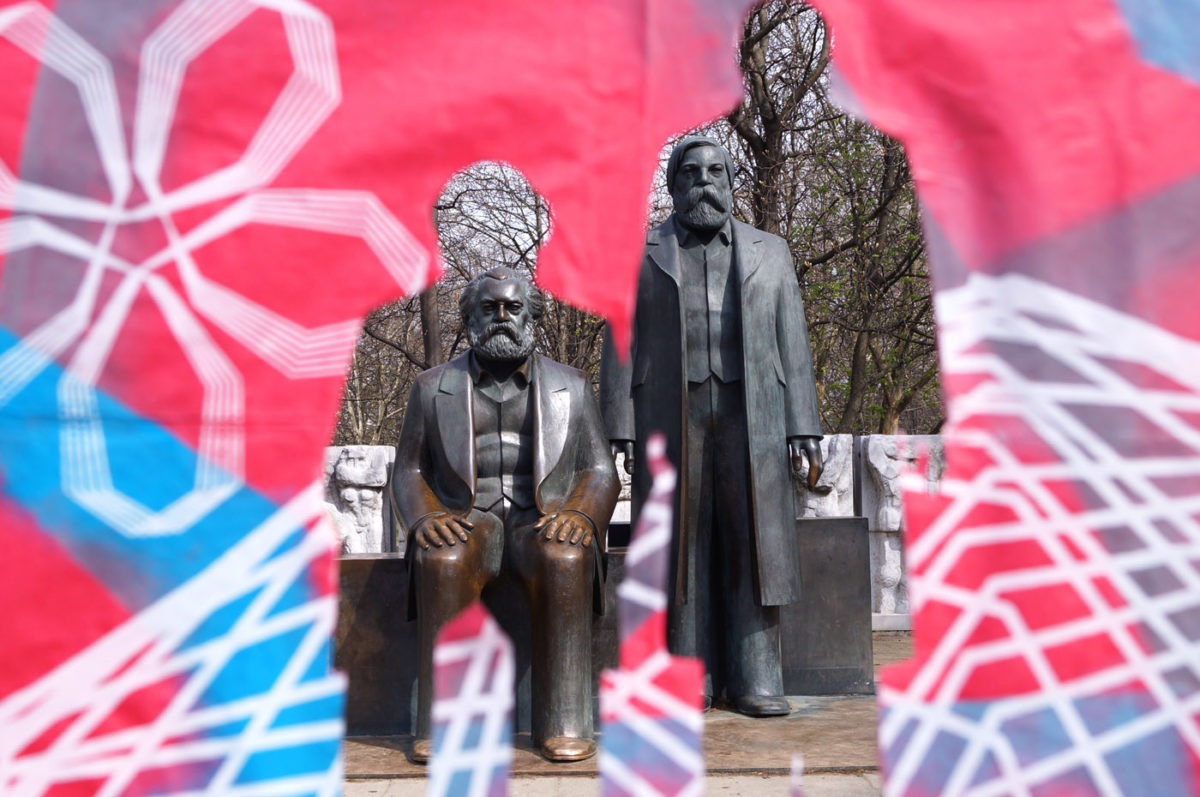 "Various & Gould: ""City Skins – Marx und Engels"", Berlin 2017"