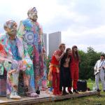 """Dörty Messer & Seeräuber Jensus singen """"Wovon lebt der Mensch"""" (mit Support von Chérie und PC), Berlin-Hellersdorf 2017"""