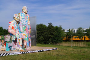 Various & Gould: City Skins – Marx und Engels, Cottbusser Platz, Berlin-Hellersdorf 2017