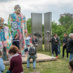 Various & Gould: City Skins – Marx und Engels, Cottbusser Platz, Berlin-Hellersdorf 2017 (Photo: Boris Niehaus)